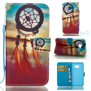 Wallet Phone Cover Leather Case for Samsung Galaxy A3 (2017) - Dreamcatcher Sunset