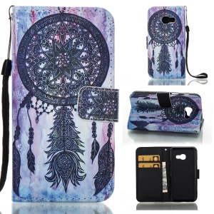 Patterned Leather Card Slots Stand Case for Samsung Galaxy A3 (2017) - Tribal Dream Catcher