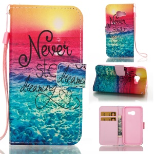 Patterned Wallet Leather Phone Case for Samsung Galaxy A3 (2017) - Never Stop Dreaming