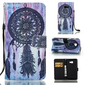 Pattern Printing Magnetic Leather Wallet Case for Samsung Galaxy A5 (2017) - Dream Catcher