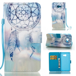 Pattern Printing PU Leather Wallet Case for Samsung Galaxy A5 (2017) - Blue Dream Catcher