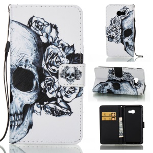 Pattern Printing Wallet Leather Stand Case for Samsung Galaxy A5 (2017) - Cool Skull