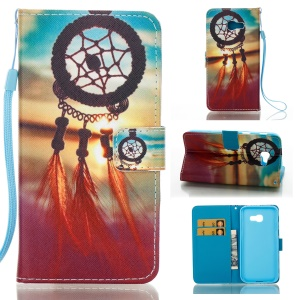 Pattern Printing Stand Leather Wallet Case for Samsung Galaxy A5 (2017) - Sunset Dream Catcher