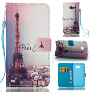 Pattern Printing Magnetic Leather Stand Case for Samsung Galaxy A5 (2017) - Eiffel Tower