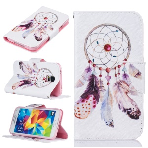Pattern Printing Protective Leather Wallet Case for Samsung Galaxy S5 SM-G900 - Dream Catcher