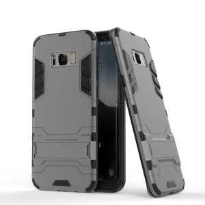 For Samsung Galaxy S8 Hybrid Mobile Case with Kickstand (PC + TPU) - Grey