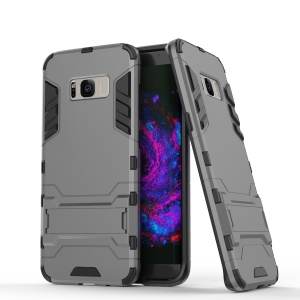 Hybrid Kickstand Phone Case Accessory for Samsung Galaxy S8 Plus (PC + TPU) - Grey