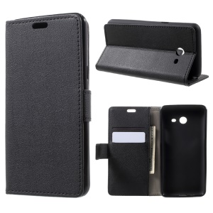 Magnetic Flip Stand Wallet Leather Case for Samsung Galaxy J5 (2017) - Black