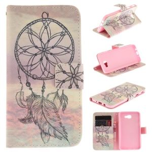 Patterned Leather Wallet Stand Cover Case for Samsung Galaxy J5 Prime/On5 2016 - Dream Catcher