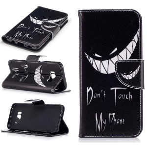 Printing Pattern Wallet Leather Case for Samsung Galaxy S8 - Monster