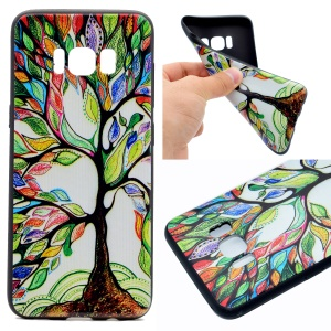 For Samsung Galaxy S8 Printing Pattern TPU Phone Casing - Colorized Tree