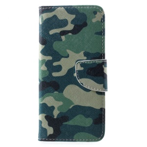 Para Samsung Galaxy S8 Patterned Flip Stand Wallet Leather Case - camuflagem padrão