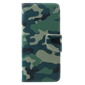 Patterned PU Leather Wallet Case Stand for Samsung Galaxy S8 Plus - Camouflage Pattern