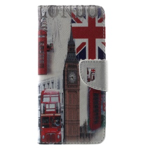 Patterned Wallet Leather Case with Stand for Samsung Galaxy S8 Plus - London Elements