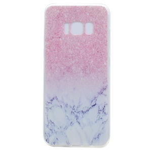 Patterned TPU Phone Case for Samsung Galaxy S8 Plus - Glitter and Marble Pattern