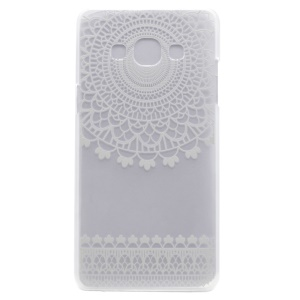 For Samsung Galaxy J3 Pro Patterned PC Mobile Cover - Mandala Style Pattern