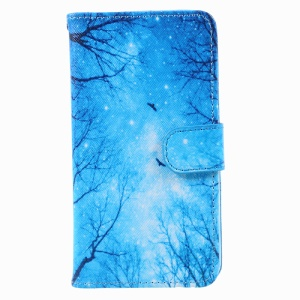 Pattern Printing Wallet Leather Protective Case for Samsung Galaxy A5 (2017) A520 - Night Scene
