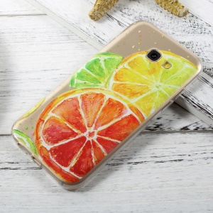 Pattern Printing Ultra Thin TPU Case Cover for Samsung Galaxy A3 (2017) - Lemon