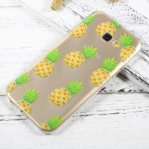 For Samsung Galaxy A3 (2017) Ultra Thin Pattern Printing TPU Case Cover - Pineapples