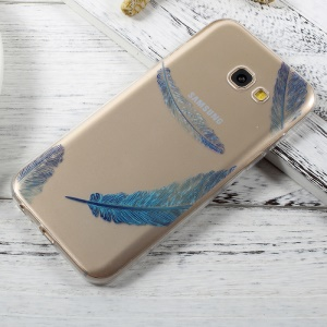 Ultra Thin Pattern Printing TPU Case for Samsung Galaxy A3 (2017) - Blue Feathers