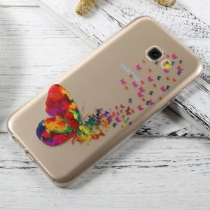 Ultra Thin Pattern Printing TPU Phone Cover for Samsung Galaxy A3 (2017) - Pretty Butterflies