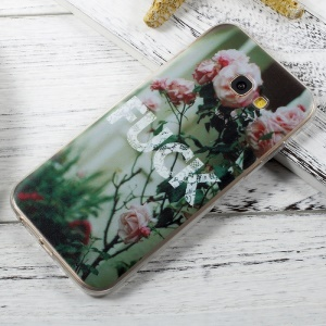 For Samsung Galaxy A5 (2017) A520 Patterned Clear TPU Phone Case - Blooming Roses