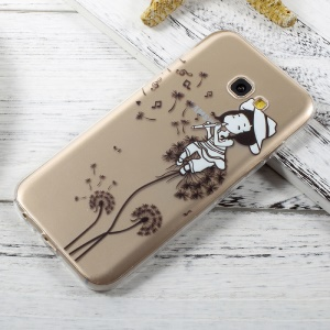 Ultra-thin TPU Back Case for Samsung Galaxy A5 (2017) A520 - Girl Playing Flute and Dandelion