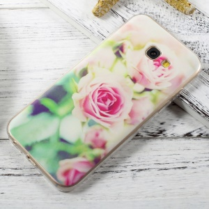 For Samsung Galaxy A5 (2017) A520 Patterned Clear TPU Case Mobile Accessory - Beautiful Roses