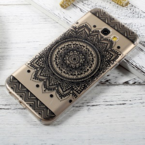 Patterned Clear TPU Soft Cover for Samsung Galaxy A5 (2017) A520 - Mandala Flower