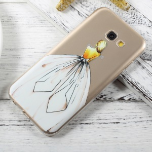 Ultra-thin Patterned TPU Back Shell for Samsung Galaxy A5 (2017) A520 - Girl in White Dress