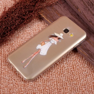 Ultra Thin Patterned TPU Gel Skin Cover for Samsung Galaxy A5 (2017) SM-A520F - Summer Beauty