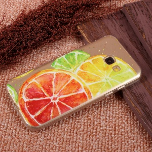 Ultra-thin Patterned Gel TPU Protective Case for Samsung Galaxy A5 (2017) SM-A520F - Lemon Pattern
