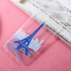 For Samsung Galaxy S8 Plus Ultra Thin Patterned TPU Case Cover - Blue Eiffel Tower