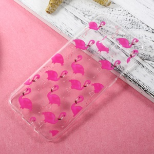 Ultra Thin Patterned TPU Mobile Case for Samsung Galaxy S8 Plus - Rose Flamingos