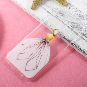 Ultra Thin Patterned TPU Back Cover for Samsung Galaxy S8 Plus - Girl in Wedding Dress