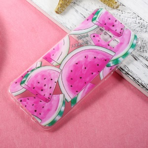 Patterned Thin Soft TPU Cover Case for Samsung Galaxy S8 Plus - Watermelon