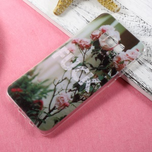 Patterned TPU Mobile Casing Case for Samsung Galaxy S8 Plus - Blooming Roses