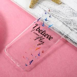 Thin Clear Patterned TPU Shell Case for Samsung Galaxy S8 Plus - I Believe I Can Fly