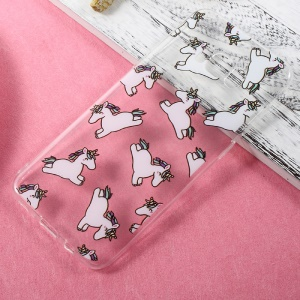 Patterned Clear Soft TPU Case for Samsung Galaxy S8 Plus - Unicorn