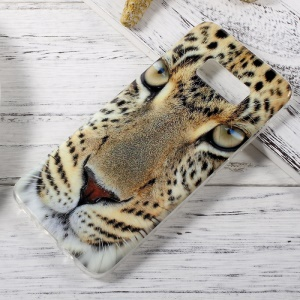 IMD Patterned TPU Cellphone Cover Case for Samsung Galaxy S8 - Leopard