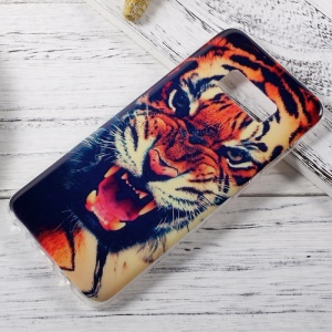In-Mold Decoration IMD TPU Back Cover for Samsung Galaxy S8 - Roaring Tiger