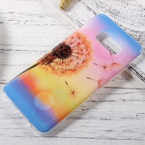 Glossy IMD TPU Mobile Shell Case for Samsung Galaxy S8 - Dandelion