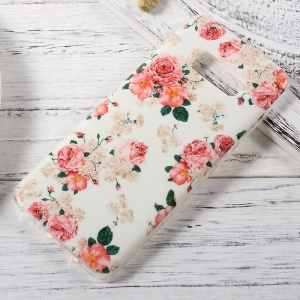 Patterned IMD TPU Skin Soft Case for Samsung Galaxy S8 - Blooming Roses