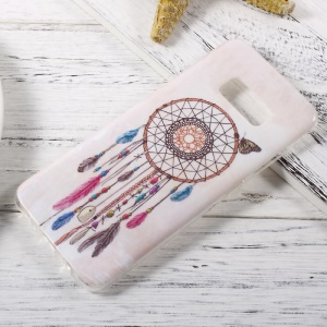 In-Mold Decoration IMD TPU Shell for Samsung Galaxy S8 - Dreamcatcher and Butterfly