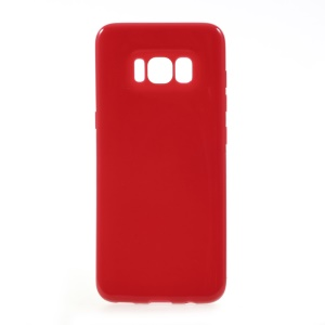 Solid Color Glossy TPU Mobile Phone Case for Samsung Galaxy S8 - Red