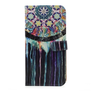 Pattern Printing Leather Stand Cover with Card Slots for Samsung Galaxy S8 Plus - Dream Catcher