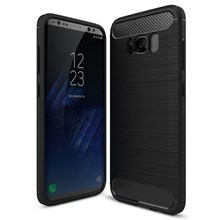 Carbon Fibre Brushed TPU Case for Samsung Galaxy S8 - Black