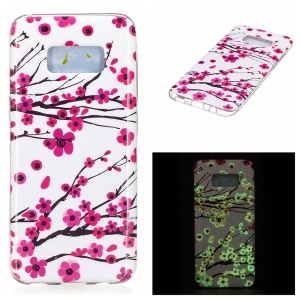 For Samsung Galaxy S8 Luminous IMD TPU Cell Phone Case - Wintersweet Flowers