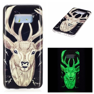 For Samsung Galaxy S8 Luminous IMD Flexible TPU Cell Phone Case - Elk