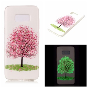 Noctilucent TPU Case for Samsung Galaxy S8 Edge - Pink Flower Tree